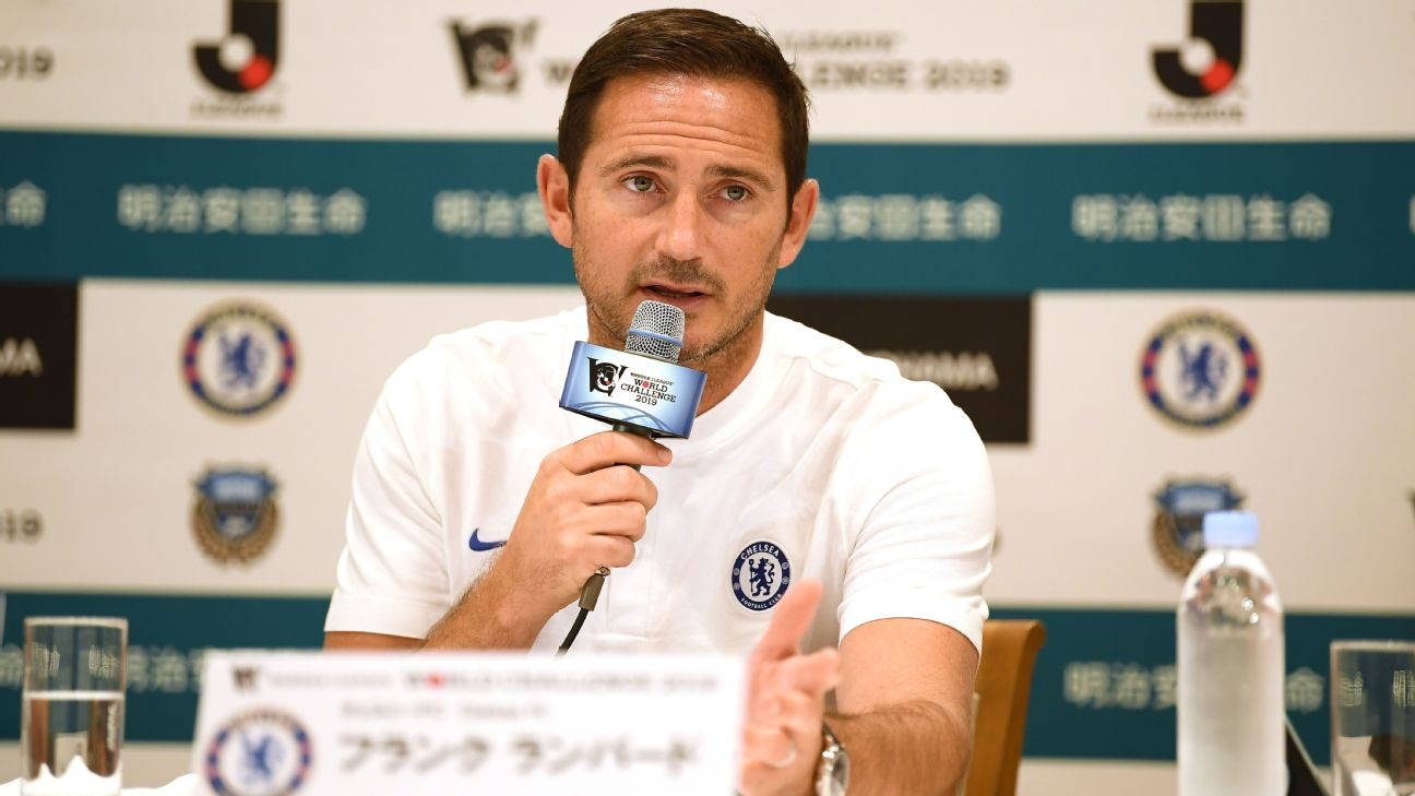 New Chelsea boss Frank Lampard re-joined the club in July after a coaching spell at Championship side Derby County.