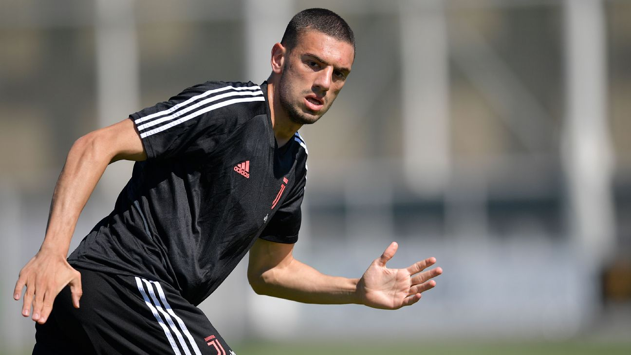 Juventus player Merih Demiral during the morning training session