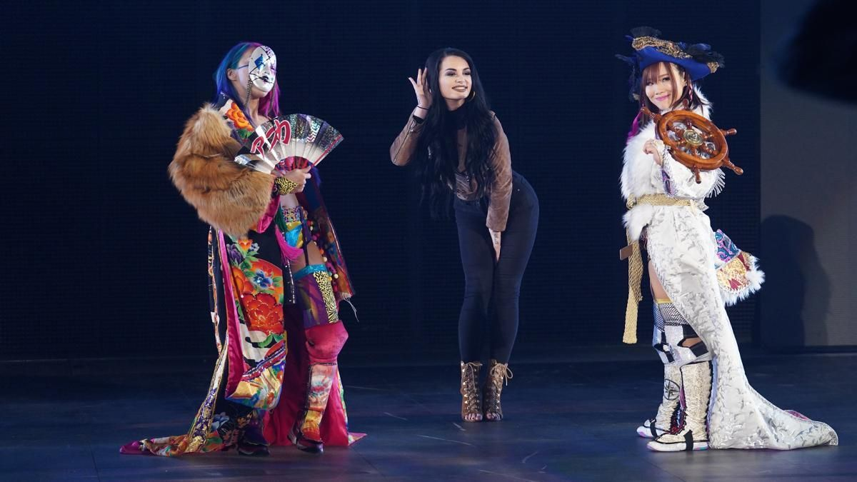 Paige introduces The Kabuki Warriors the the WWE Universe.