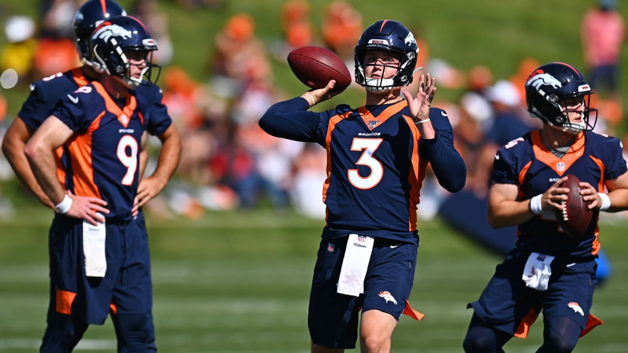 3c2d2b57 Broncos Drew Lock 'not a quarterback yet,' but goes back to learning ...