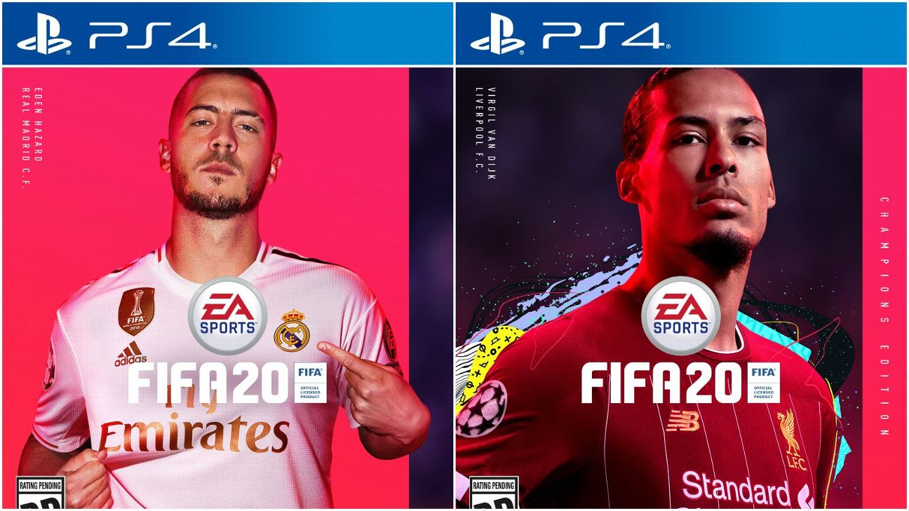 Eden Hazard and Virgil van Dijk are on the covers of EA Sports' FIFA 20.