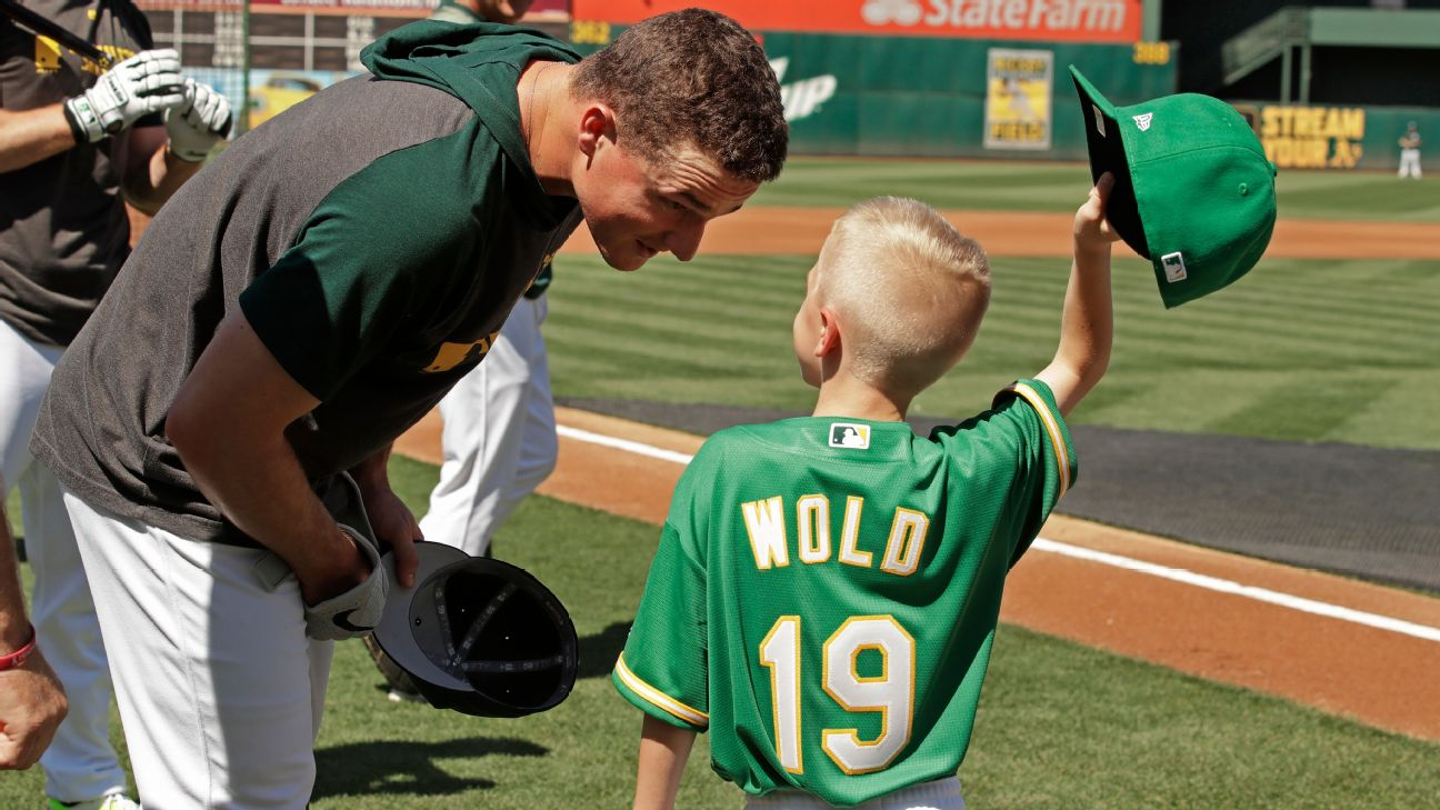 half off 00df8 74c8b A's sign Wold, 8, for a day through Make-A-Wish | abc7news.com