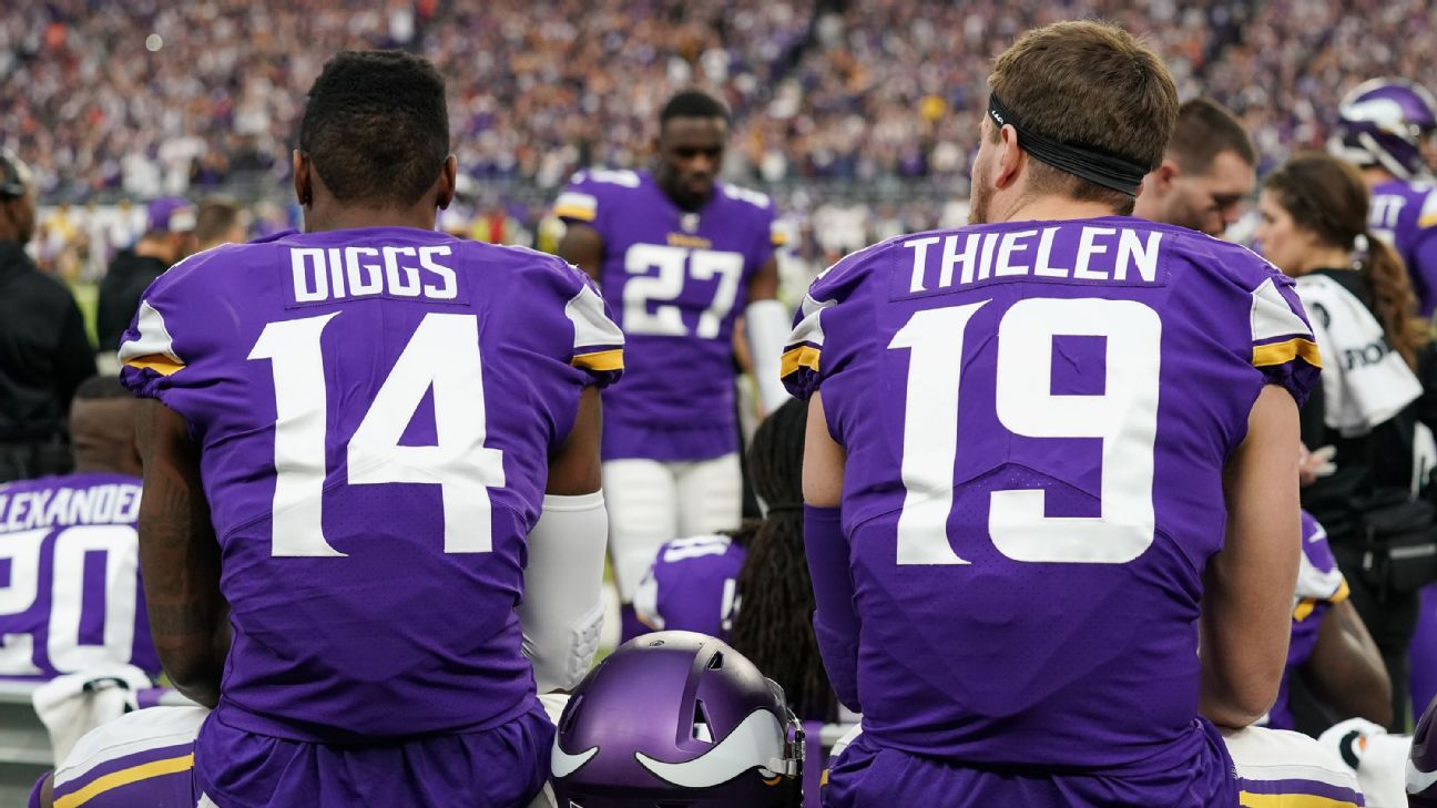 newest collection 09c85 3f71a Vikings' big question: Stefon Diggs, Adam Thielen and then ...