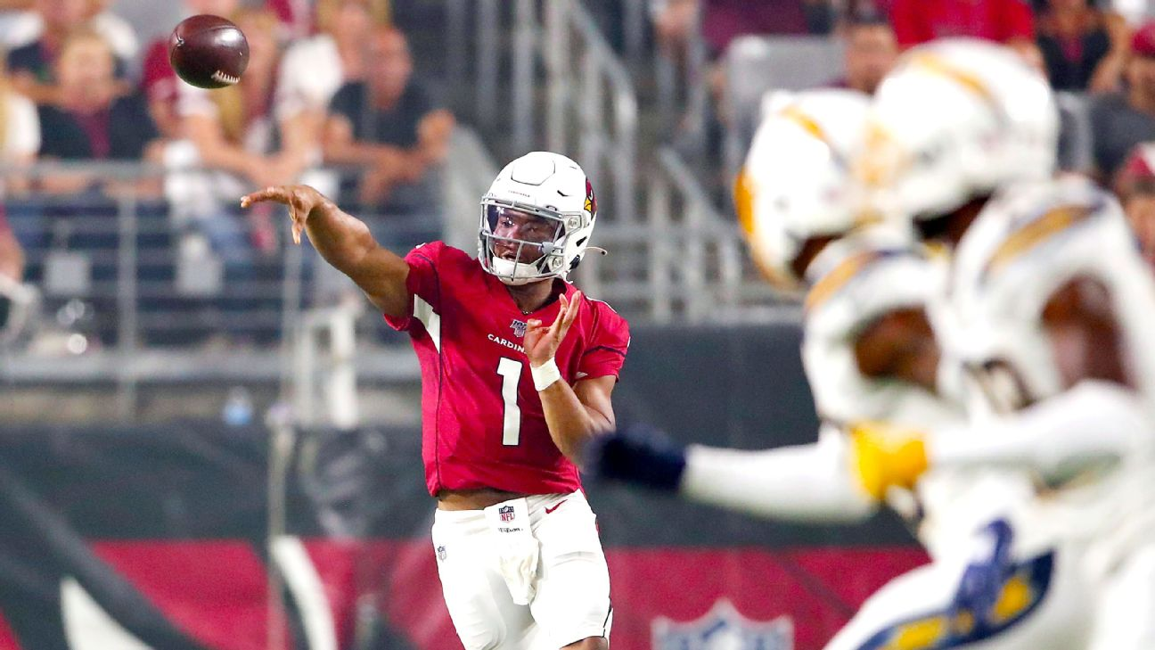 ce43fa67 NFL rookie quarterback debuts -- How Murray, Jones, Haskins fared