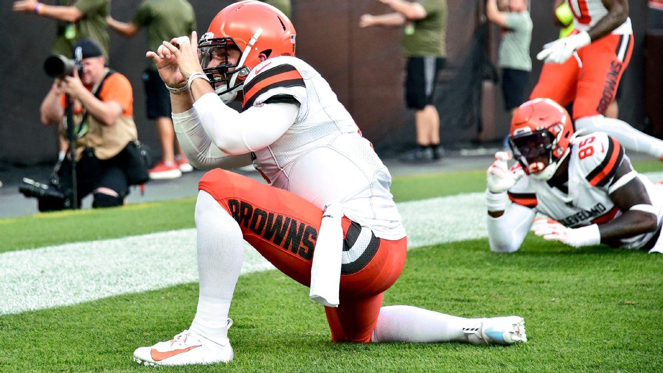 buy online ab419 cd1fb NFL preseason Week 1 takeaways: Baker Mayfield, Browns off ...