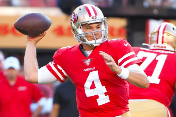 49ers to start Mullens at QB; Kittle out again