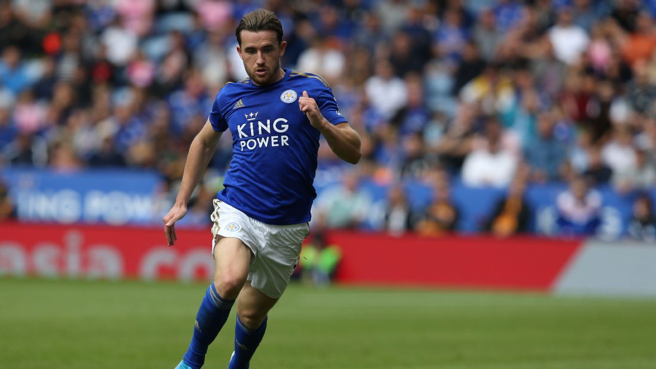 Ben Chilwell controls the ball during Leicester's Premier League draw against Wolves.
