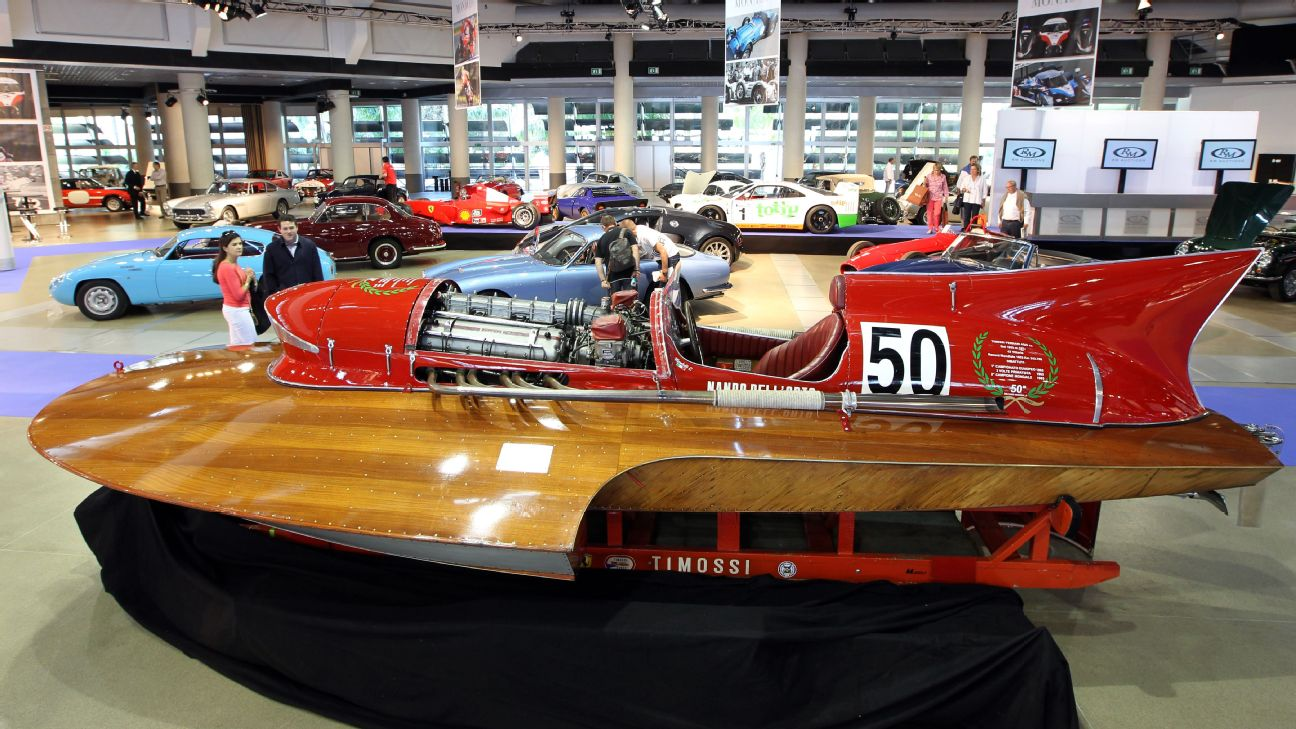 The only boat powered by a Ferrari F1 engine is up for sale