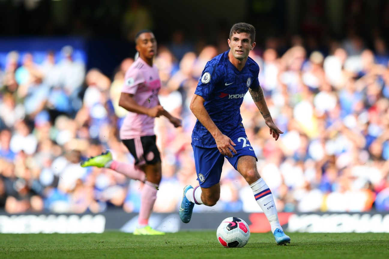 Christian Pulisic made his second start for Chelsea in a 1-1 draw with Leicester City.