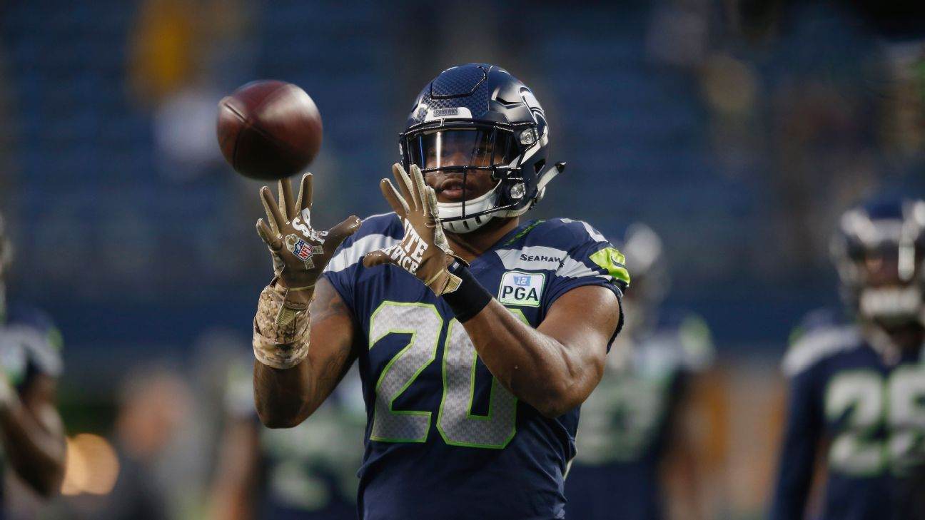 38c467de Seahawks eager to use Chris Carson, Rashaad Penny in passing game ...