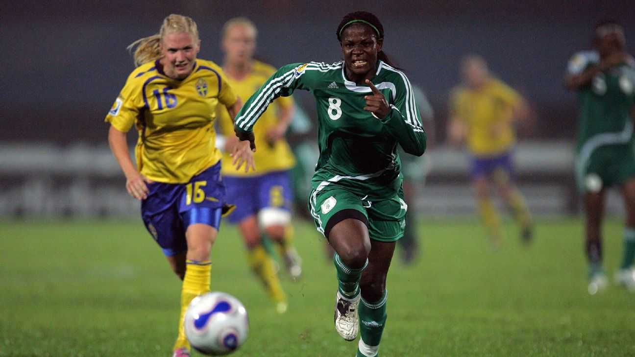 Striker Ifeanyi Chiejine featured at three Women's World Cups for the Super Falcons, as well as at the 2000 Olympics in Sydney.