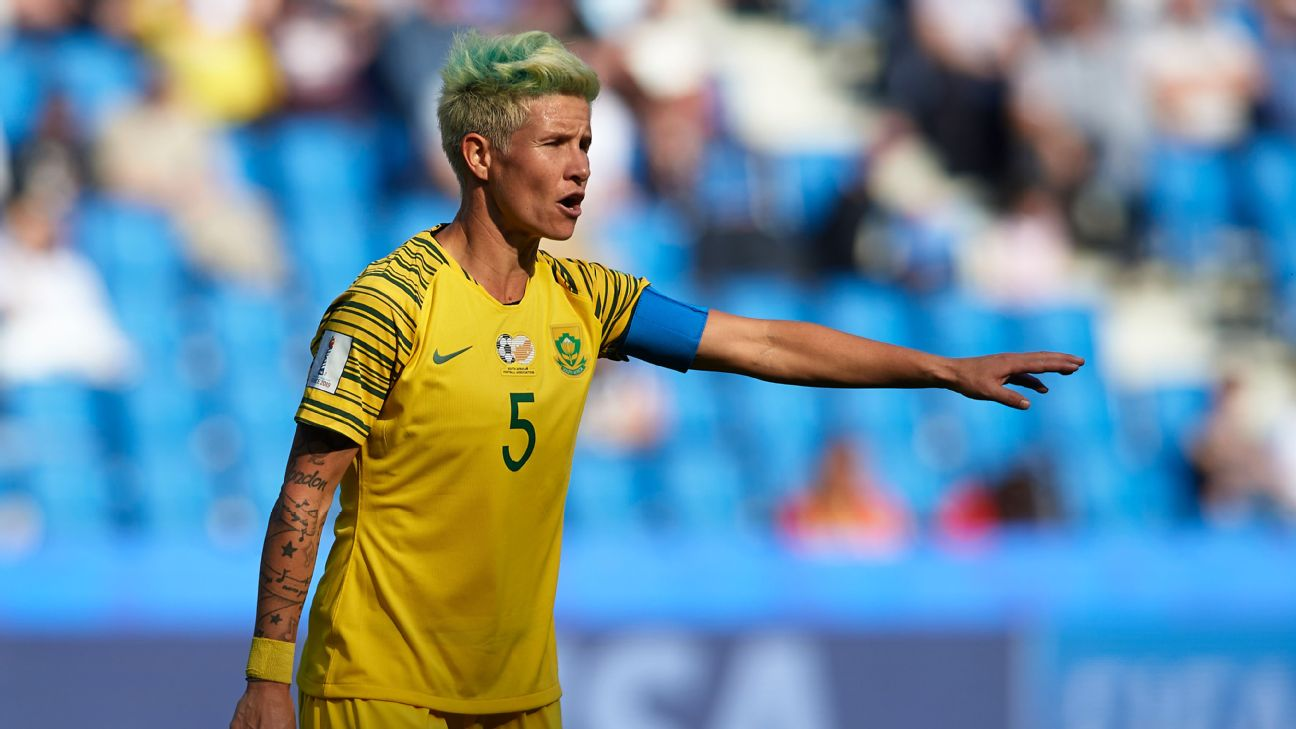 Janine van Wyk captained South Africa to, and at, their first ever Women's World Cup, though they left France without a win.