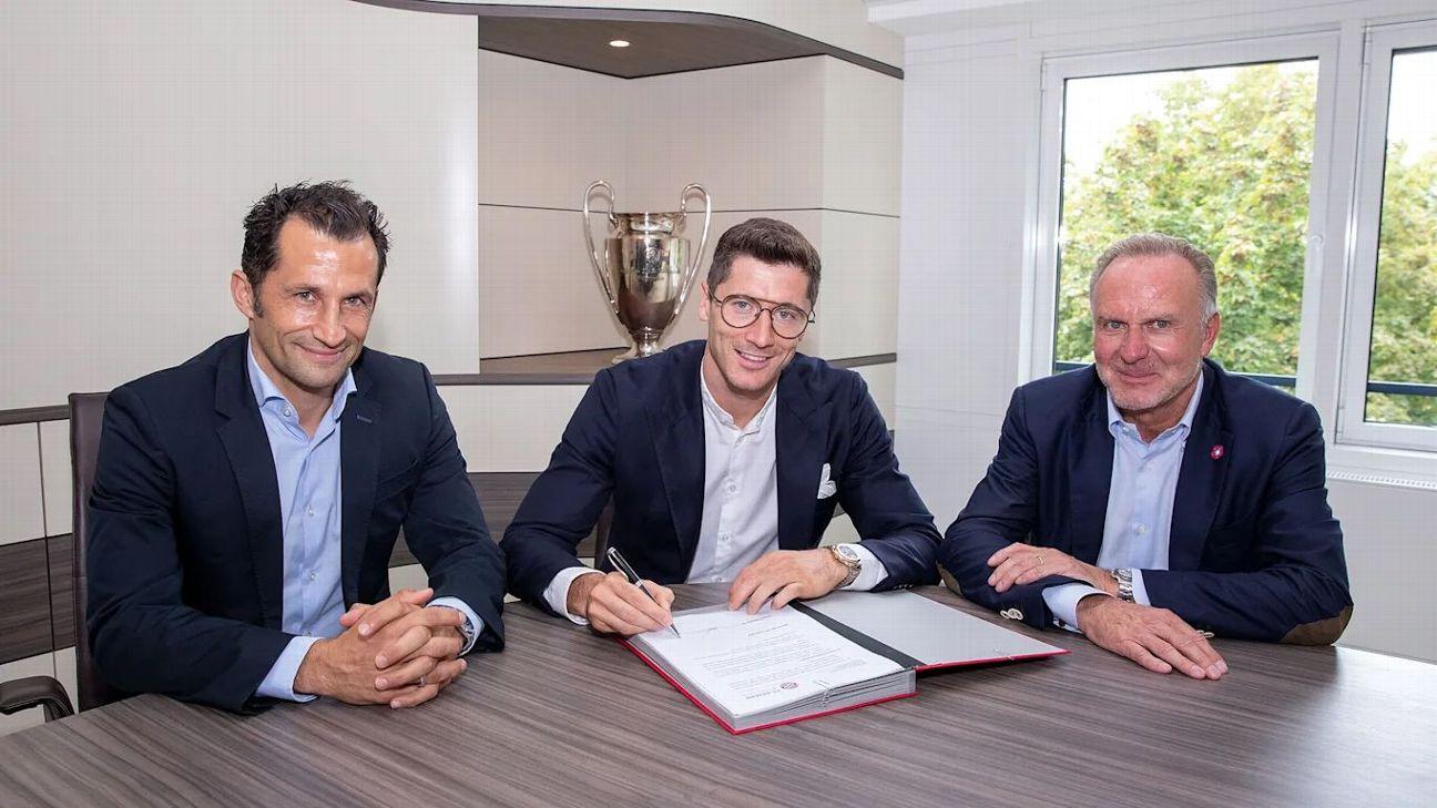 Resultado de imagem para Lewandowski assina contrato com o Bayern Divulgação/Bayern