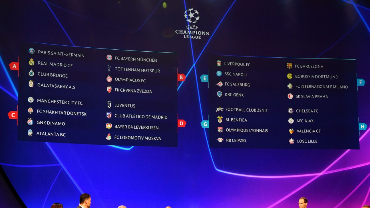 uefa champions league full group stage fixture schedule 2019 20 uefa champions league full group stage