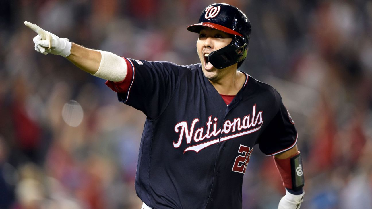 Nats' Suzuki waiting for MRI results on elbow