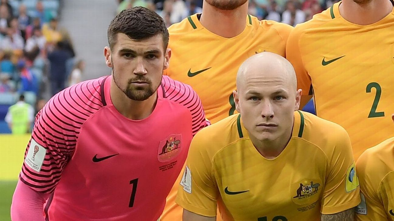 Mathew Ryan and Aaron Mooy