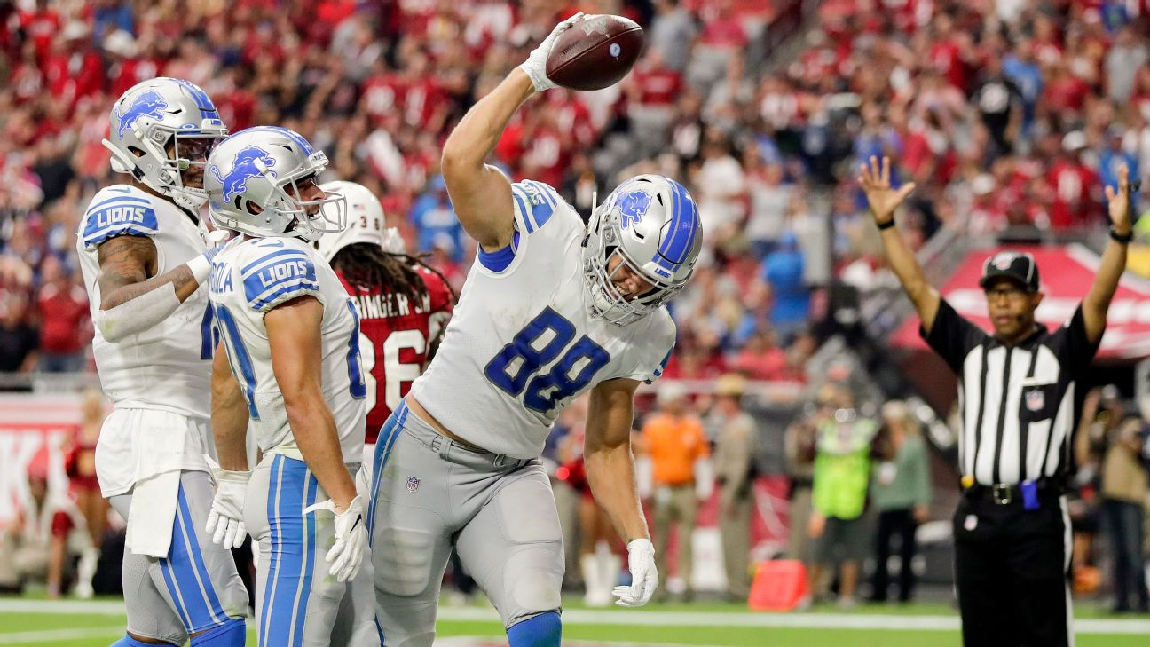T.J. Hockenson's record debut gives Lions a glimpse of what's to come -  Detroit Lions Blog- ESPN