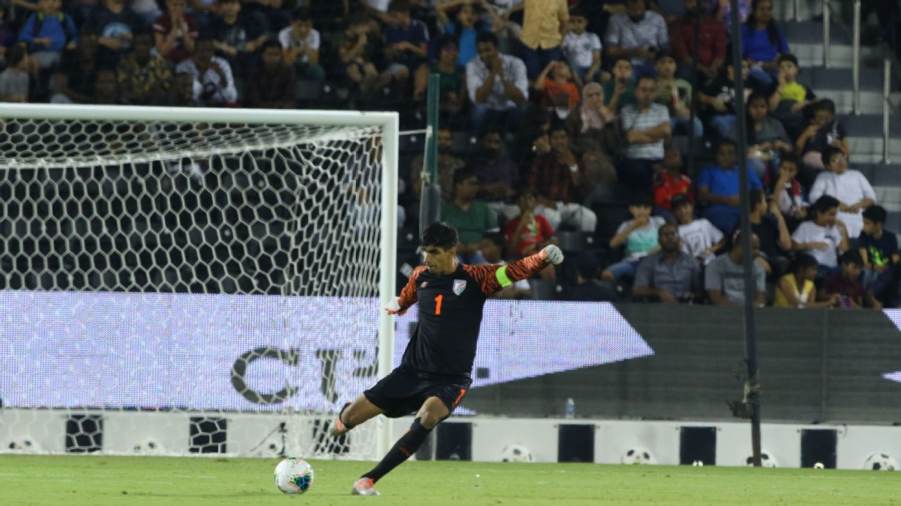 Gurpreet Singh Sandhu was at the top of his game against Qatar.