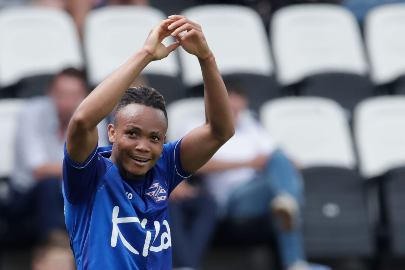 Chidera Ejuke scored on his debut for Heerenveen, in a 4-0 drubbing of Heracles Almelo.