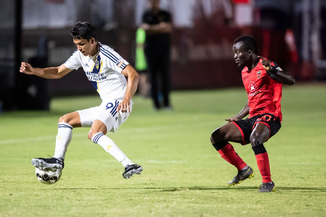 The USL match between Phoenix Rising and LA Galaxy II was called early due to player safety.