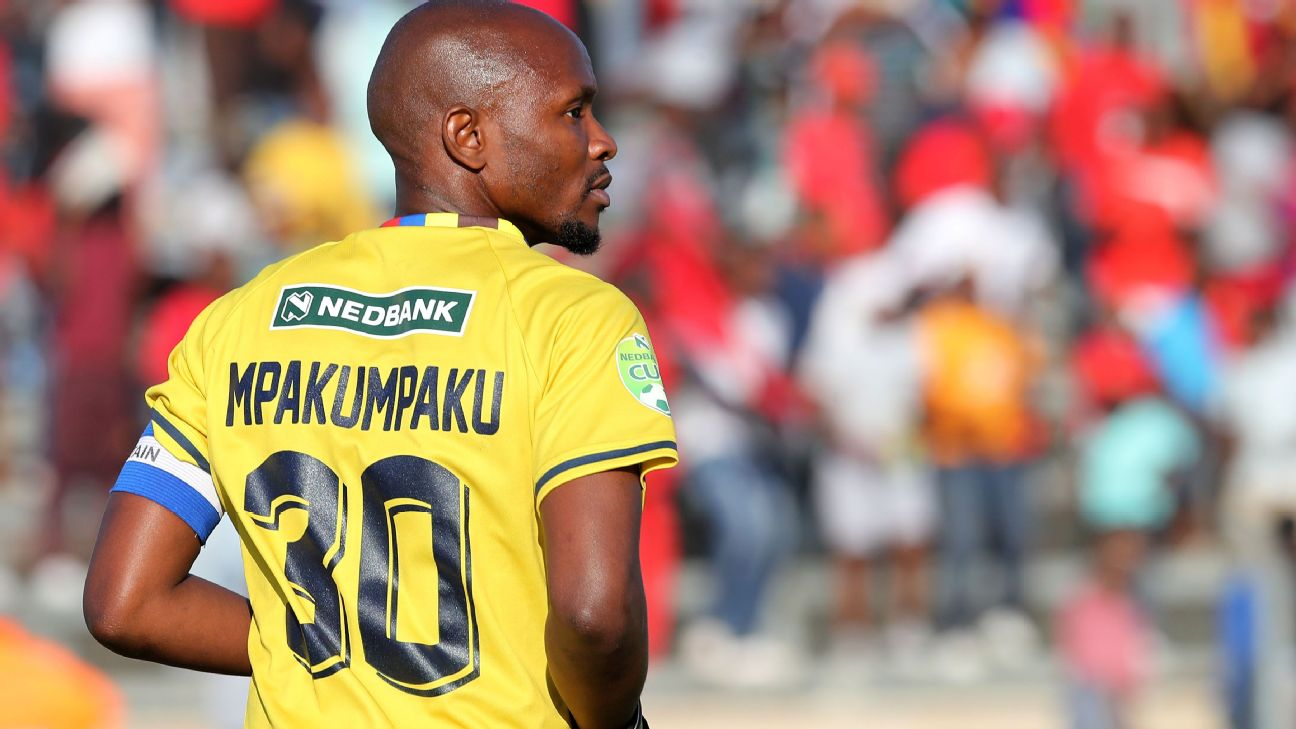 Ludwe Mpakumpaku, pictured playing during the 2019 Nedbank Ke Yona Challenge, was key for TS Galaxy as the South African second-tier side made a winning start to their CAF Confederation Cup campaign.