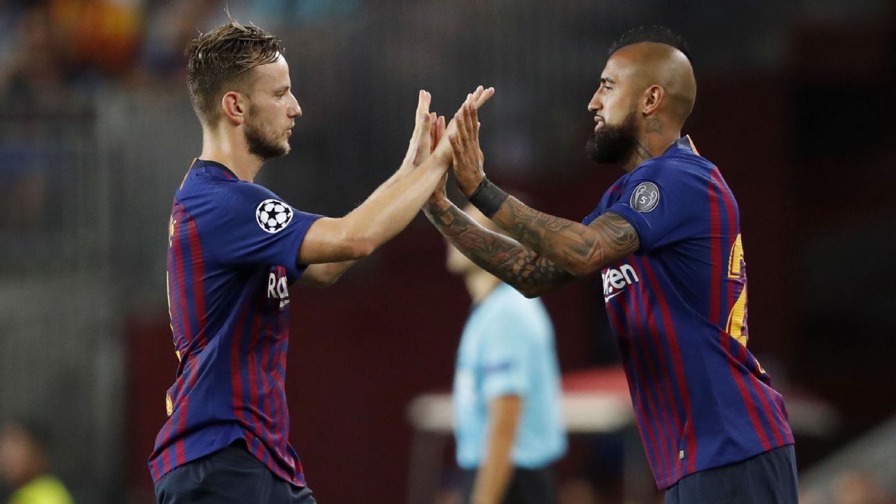 Ivan Rakitic and Arturo Vidal