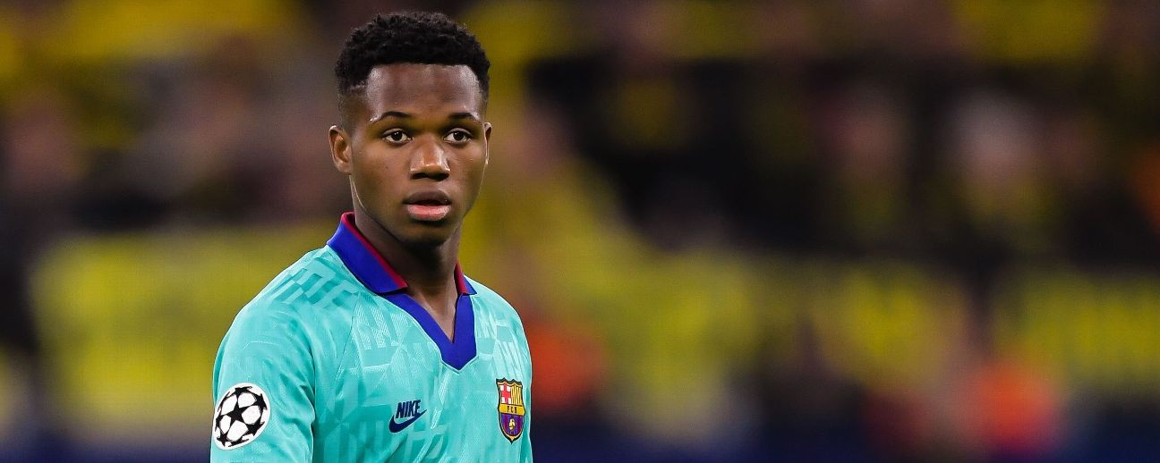 Ansu Fati, 16, became the youngest ever player to feature in a Champions League match for Barcelona this week.