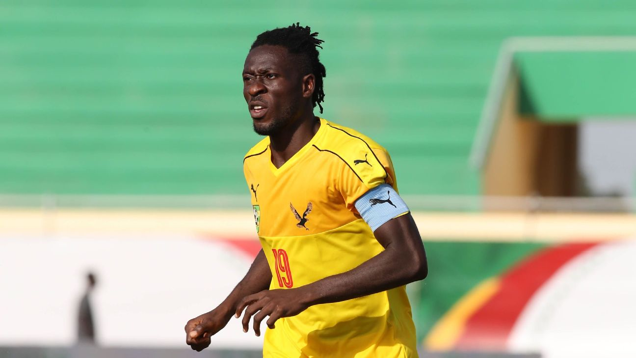 Gnama Akate was an influential presence for Togo in their win over Nigeria in the first round.