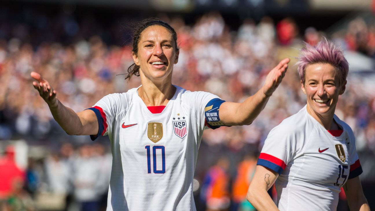 Carli Lloyd celebrates after scoring a goal for the U.S. in a friendly against South Korea.
