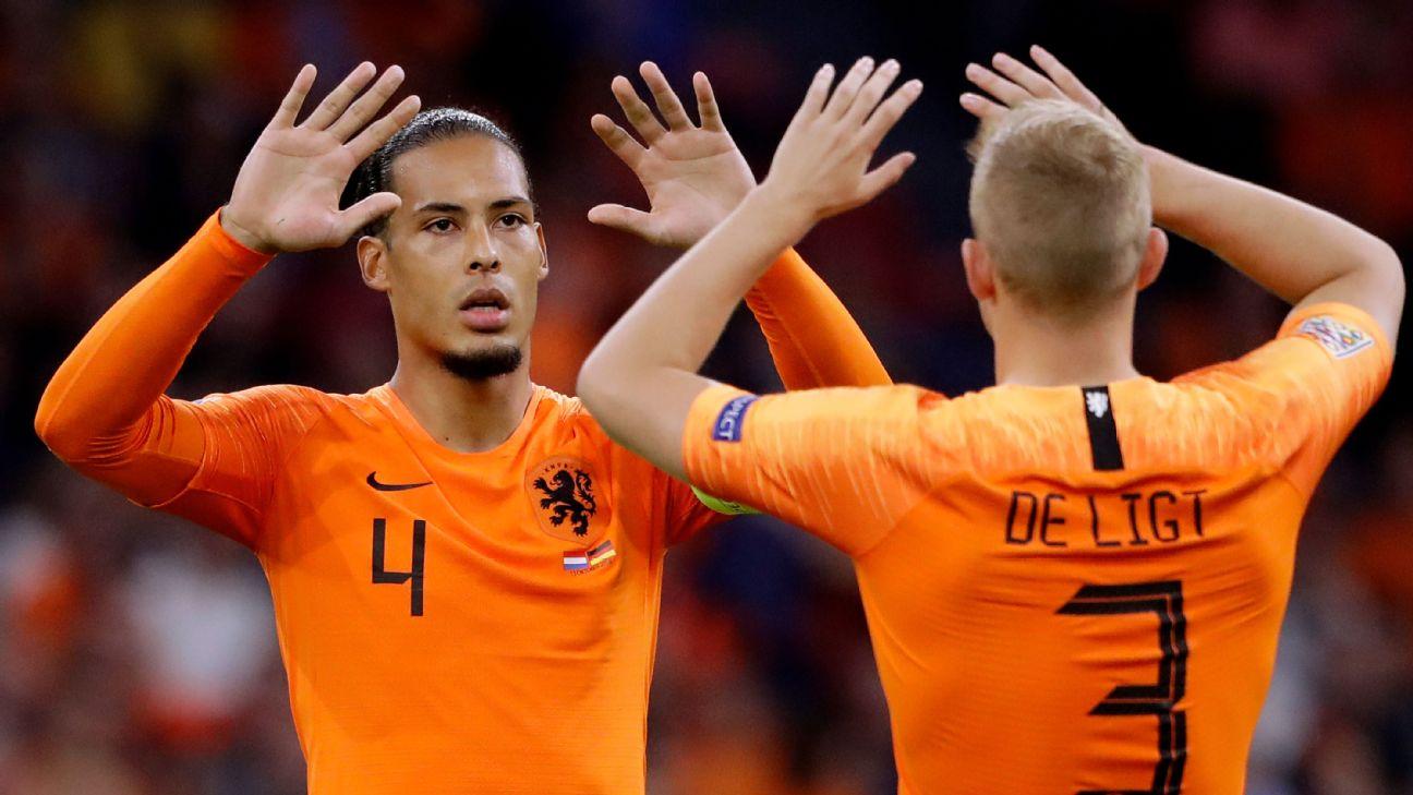 Virgil van Dijk and Matthijs de Ligt