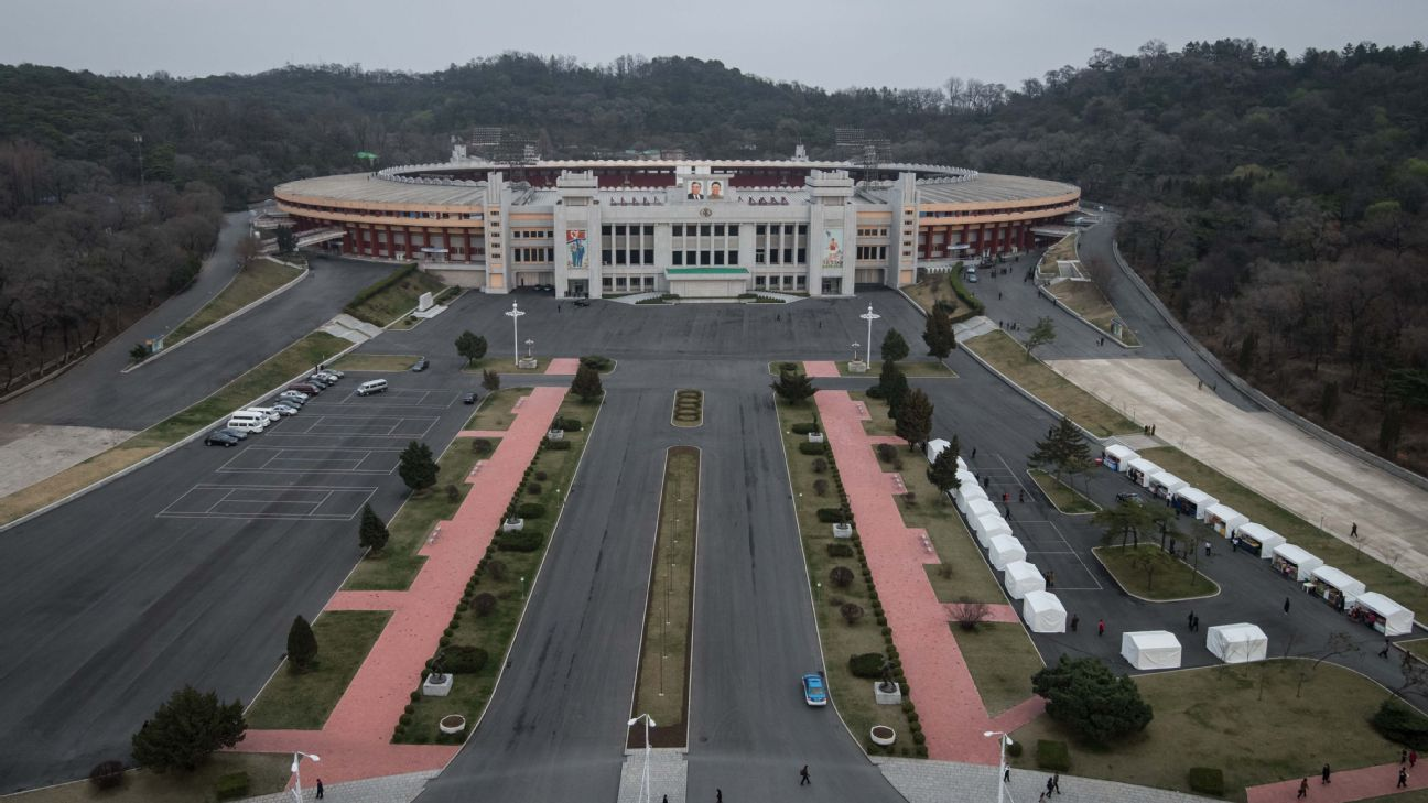 Tuesday's 2022 World Cup qualifier between South Korea and North Korea is set to take place in Pyongyang's Kim Il-sung Stadium.