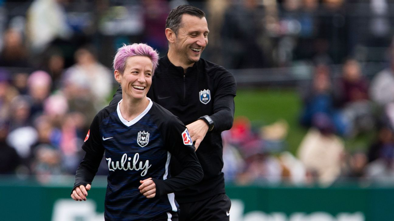 Vlatko Andonovski has a chance to become the first coach to win three NWSL titles. The journey continues as Megan Rapinoe and Seattle take on defending champion North Carolina in Sunday's semifinals.