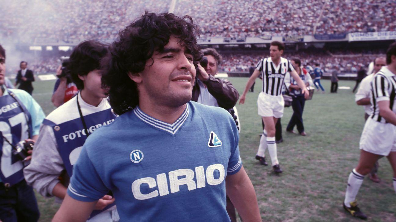 """Hasta siempre, ciao Diego"""", el Nápoli despide a Maradona"""