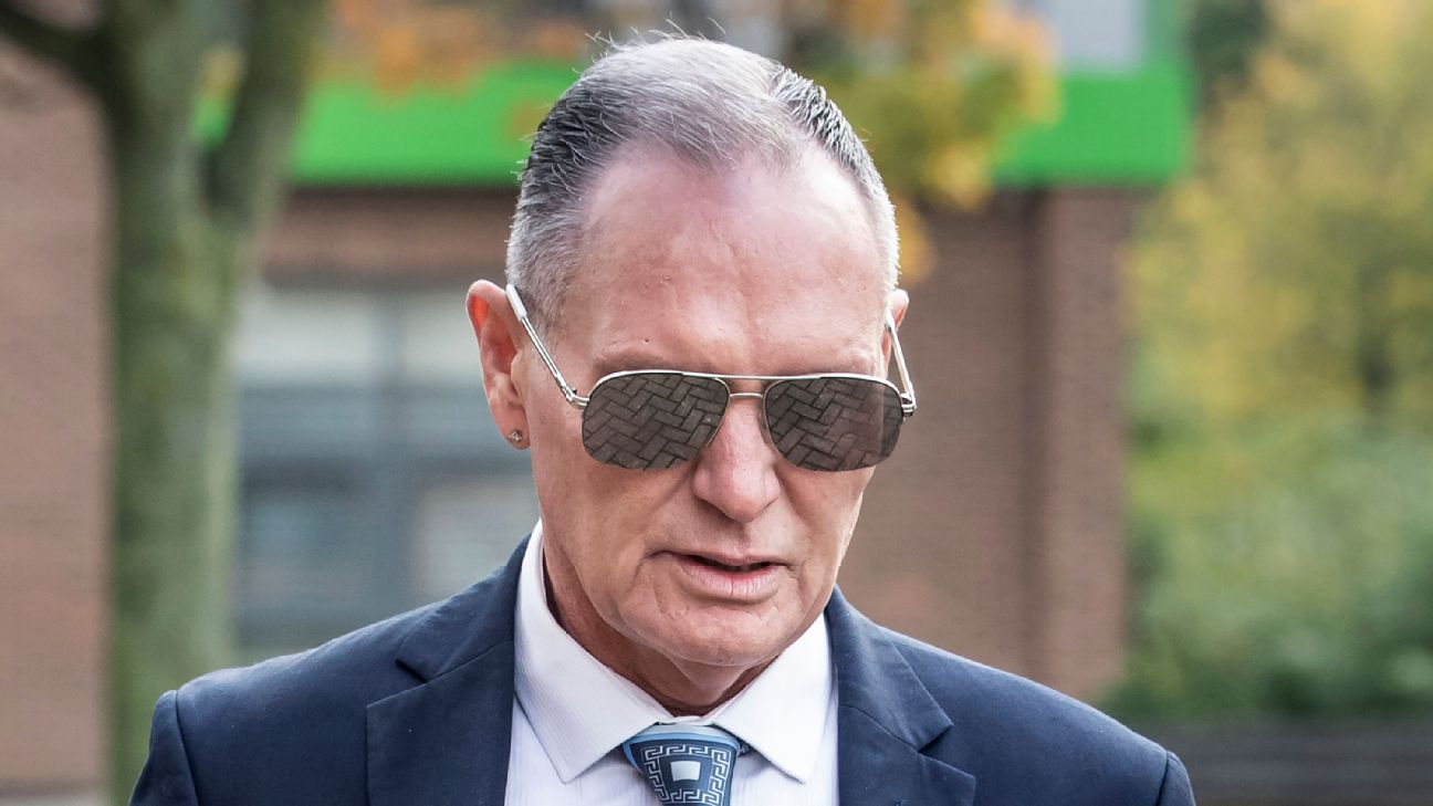Paul Gascoigne appeared at Teesside Crown Court in a sexual assault trial on Thursday.