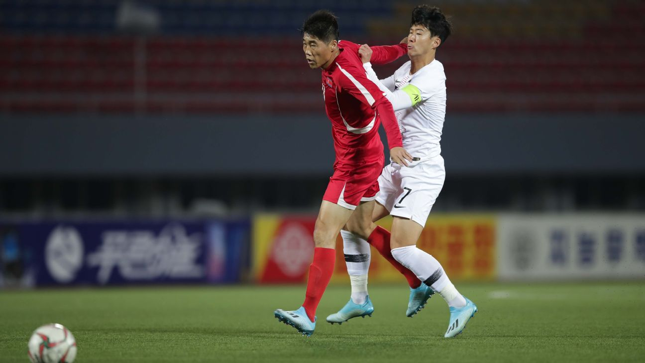 Tottenham's Son Heung-Min (right) said he and his South Korea teammates were