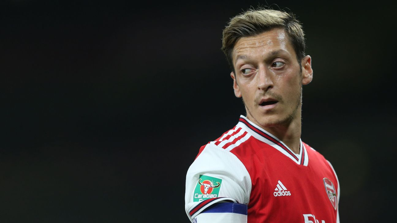 Mesut Ozil has struggled for game time under Unai Emery at Arsenal this season.