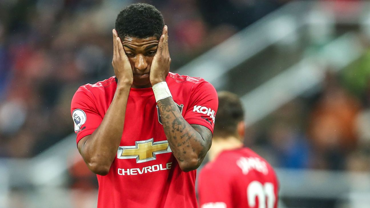 Marcus Rashford and Man United are winless in their last three games in the Premier League and have leaders Liverpool next on Sunday.