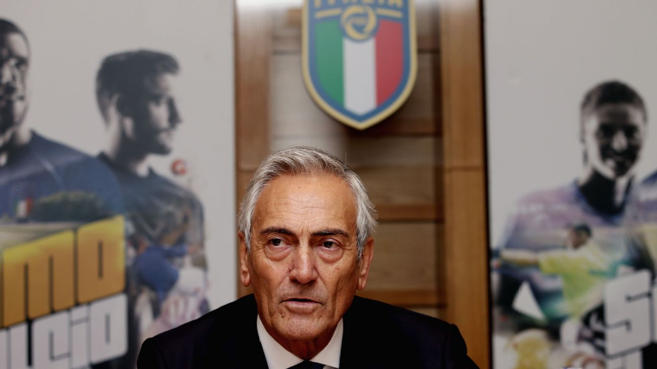 FIGC president Gabriele Gravina