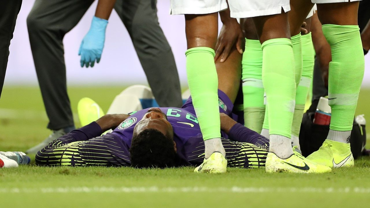Francis Uzoho injured his knee against Brazil in October, ruling him out for the next six months at least.