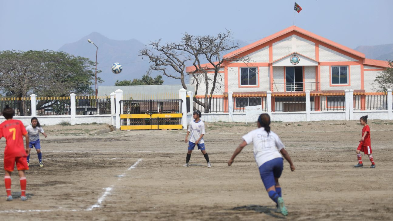 Churachandpur in Manipur is one of the first districts in the north-eastern part of India to have constituted a girls' football league.