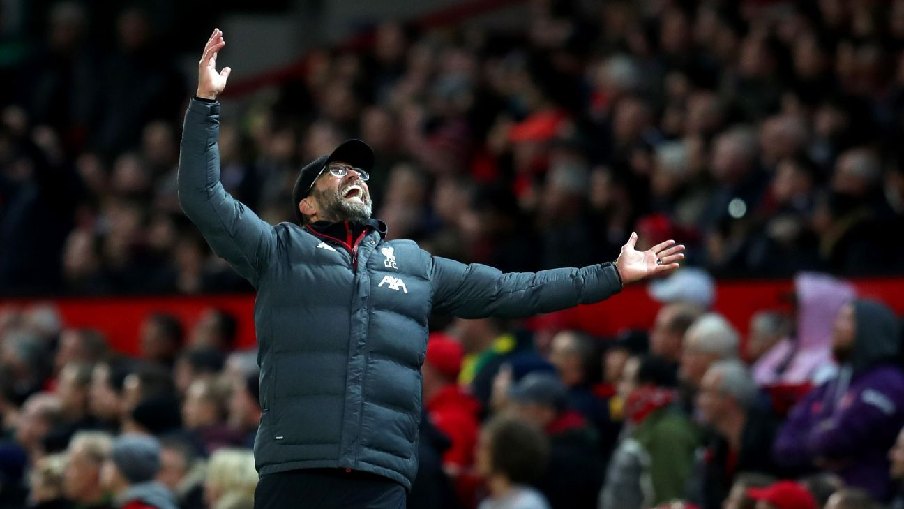 Jurgen Klopp was left frustrated by a missed foul call ahead of a Manchester United goal on Sunday.