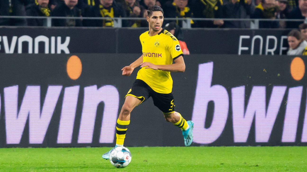 Achraf Hakimi was the star African performer of the weekend in the Bundesliga.