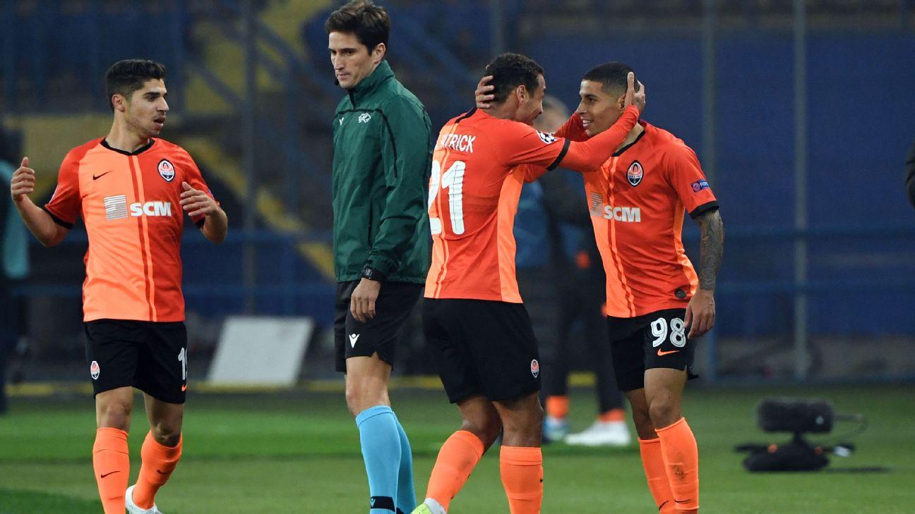 Shakhtar Donetsk's Brazilian midfielder Dodo