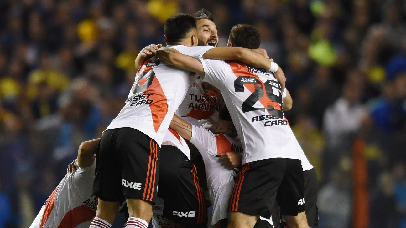 River Plate celebrates