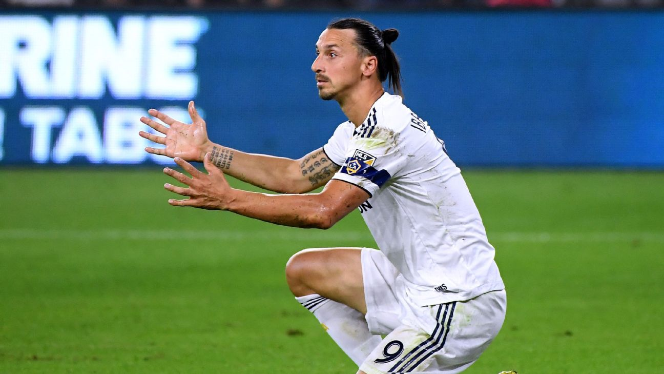 Zlatan Ibrahimovic's contract at LA Galaxy is effectively up now that his side's season is over.