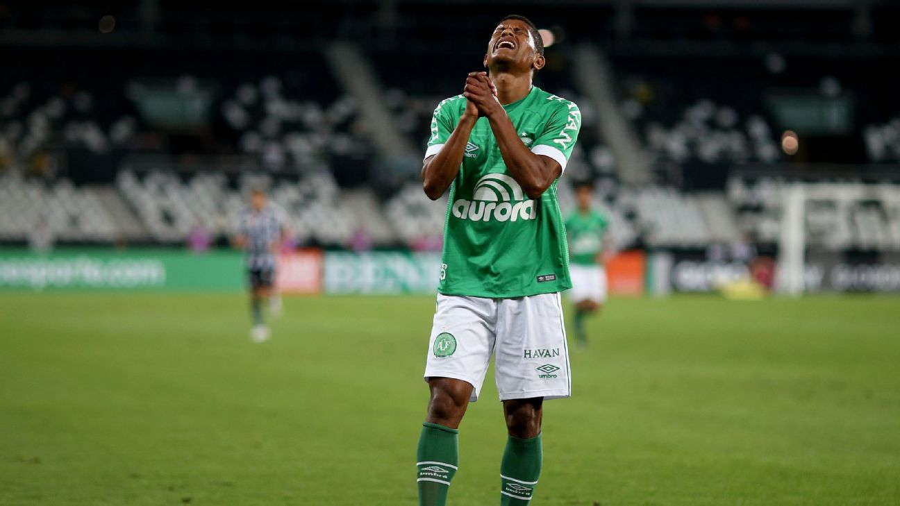 Marcio Araujo looks on during Chapecoense's Serie A match against Botafogo.
