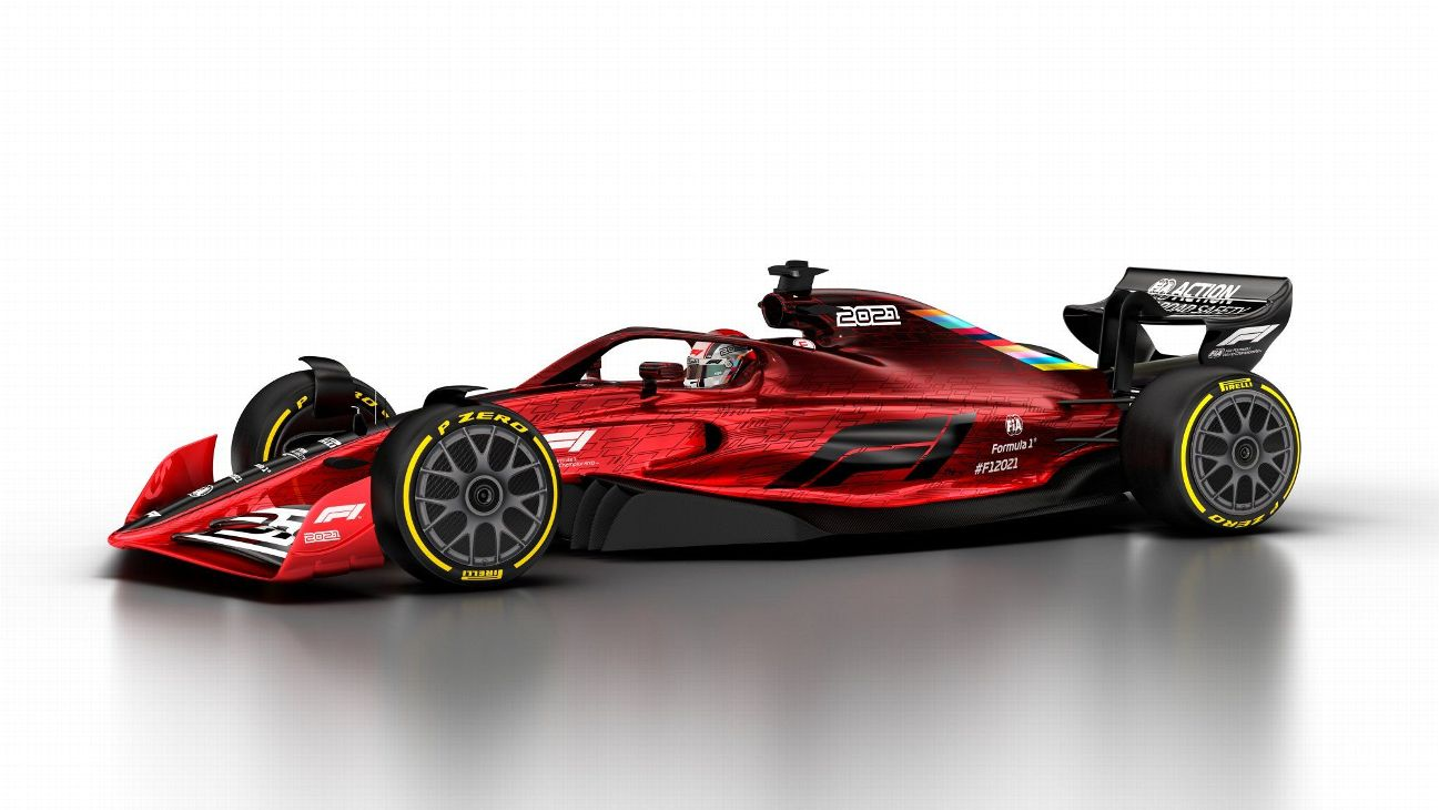 F1 Unveils Its Car Of The Future For 2021 And Beyond