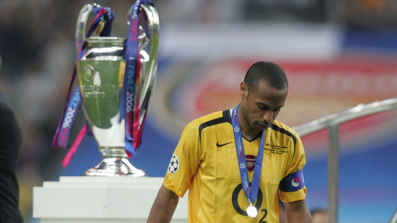 Arsenal's Thierry Henry after Barcelona's victory 2006