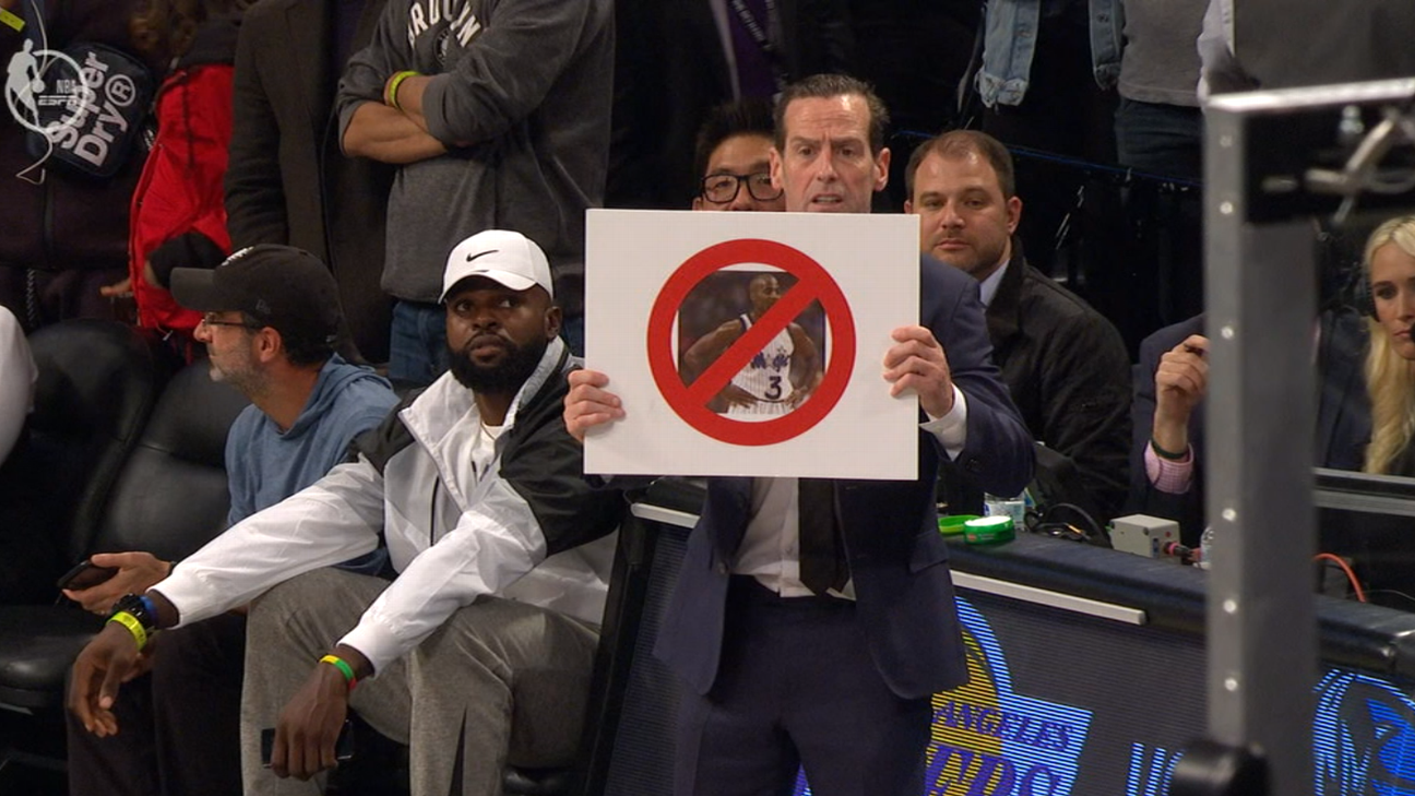 The Legend Behind Those Goofy Nets Cue Cards