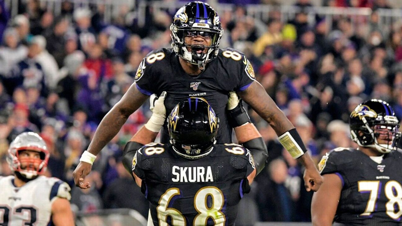 espn.com - Jamison Hensley - 16-0? Analytics and oddsmakers say Ravens on path to perfection